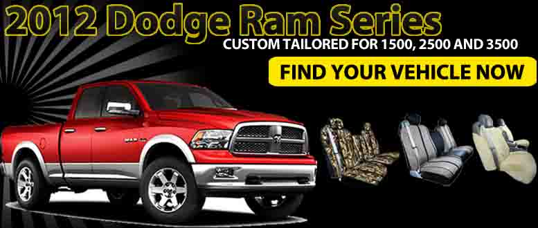 Custom Tailored Seat And Bench Covers For 2012 Dodge Ram 1500 2500